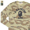 A BATHING APE TIGER CAMO COLLEGE L/S TEE 1D30-111-009画像