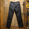 Cushman BLACK CHAMBRAY TROUSERS TIGHT STRAIGHT 22097画像