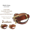 MARTIN FAIZEY OAK BARK TANNED LEATHER 1.25 INCH QUICK RELEASE BELT画像