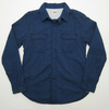 UES Indigo Chambray Triple stitched Work Shirts with Chin Strap and Ventilation Hole 501304画像