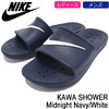NIKE KAWA SHOWER Midnight Navy/White 832528-400画像