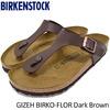 BIRKENSTOCK GIZEH BIRKO-FLOR Dark Brown GC043961画像