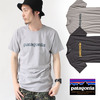 patagonia Men's Text Logo Cotton Poly Tshirt 39060画像
