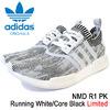 adidas NMD R1 PK Running White/Core Black Originals BY1911画像