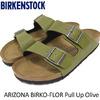 BIRKENSTOCK ARIZONA BIRKO-FLOR Pull Up Olive GC1003150画像