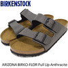 BIRKENSTOCK ARIZONA BIRKO-FLOR Pull Up Anthracite GC1000126画像