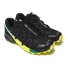 SALOMON SPEEDCROSS 4 BLACK/EVERGLADE/SULPHUR SPRING L39239800画像