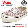 VANS Authentic 44 DX OG Mauve/Check Anaheim Factory VN-0A38ENOAO画像