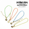 DOUBLE STEAL NEON CHAIN ANKLET 473-90019画像