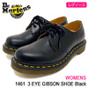 Dr.Martens WOMENS 1461 3 EYE GIBSON SHOE Black R11837002画像