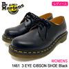 Dr.Martens WOMENS 1461 3 EYE GIBSON SHOE Black R11837002画像