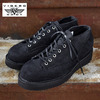 VIBERG BOOTS 245 Lace to Toe Oxford BLACK ROUGH OUT画像