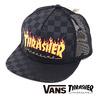 VANS × THRASHER TRUCKER CAP BLACK(THRASHER) VN0A360P09B画像