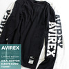 AVIREX U.S.A. COTTON SLEEVE LOGO T-SHIRT 6173466画像