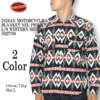 INDIAN MOTORCYCLE BLANKET NEL PRINT L/S WESTERN SHIRT IM27738画像