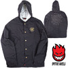 SPITFIRE OG CLASSIC PATCH COACH HOODED JACKET BLACK 54010032D画像
