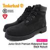 Timberland Junior 6inch Premium Waterproof Boot Black Nubuck 12907画像