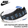 NIKE AIR FOOTSCAPE WOVEN NM Black/Blue Jay/White 875797-005画像