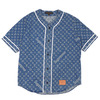 Supreme × LOUIS VUITTON Jacquard Denim Baseball Jersey INDIGO画像