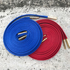 KIXSIX WAXED SHOELACE 2P RED-BLUE/gold画像