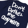 WASTED YOUTH Don't bother me anymore Tee NAVY画像