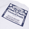 WASTED YOUTH BUD Tee WHITE画像