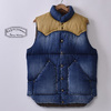 Rocky Mountain Featherbed RANCH DOWN VEST INDIGO USED WASH画像