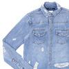 Ron Herman × ksubi Damage Denim Shirt BLUE画像