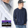 patagonia Men's Long-Sleeved Text Logo Cotton/Poly Responsibili-Tee 39042画像