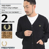 FRED PERRY V-Neck Long Cardigan JAPAN LIMITED F3176画像