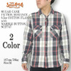 SUGAR CANE FICTION ROMANCE 9.5oz COTTON FLANNEL with MARBLE BUTTON SC27747画像
