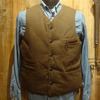 SUGAR CANE COTTON MOLESKIN DOWN VEST SC13987画像