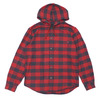 Supreme Hooded Buffalo Plaid Flannel Shirt RED画像