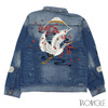 TWOANGLE SHYNE DENIM JACKET INDIGO BLUE画像