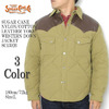 SUGAR CANE NYLON/COTTON LEATHER YOKE DOWN JACKET SC13926画像