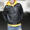 PROJECT SR'ES Ribbed Neck Leather JKT JKT00646画像