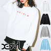 X-girl × Russell INTERVAL LOGO CREW SWEAT TOP 5175207画像