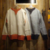 HELLER'S CAFE HC-M142-3 1930's 2tone Double V Sweatshirts画像