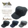 Hanna Hats HARRIS TWEED HERRINGBONE FIDDLER CAP画像