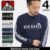BEN DAVIS Checker Crew Sweat M-7780039画像