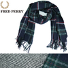 FRED PERRY #F19838 WOOL CHECK STOLE画像
