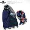 Glen Prince Mixed Pattern & Plain Patchwork Scarf SLW116-2/SLW116-4画像