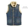 JOHNBULL #AH049 Denim Boa Reversible Vest画像
