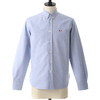MAISON KITSUNE OXFORD TRICOLOR FOX PATCH CLASSIC SHIRT BD KMH2800画像