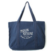 MAISON KITSUNE SHOPPING BAG PARIS ROYAL-BLUE- KUX8809画像
