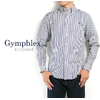 Gymphlex #J-0643 Men's L/S B.D Shirts -Navy Stripe- -Gingham Check-画像