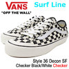 VANS Style 36 Decon SF Checker Black/White Surf Line VN0A3MVL01U画像