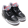NIKE JORDAN 3 RETRO BP BLACK/FIRE RED-CEMENT GREY-WHITE 429487-021画像