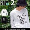 HTML ZERO3 Plaid Figure L/S Tee T526画像