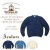 INVERALLAN CLASSIC HEAVY NEEDLE WASHED DENIM CREWNECK SWEATER画像